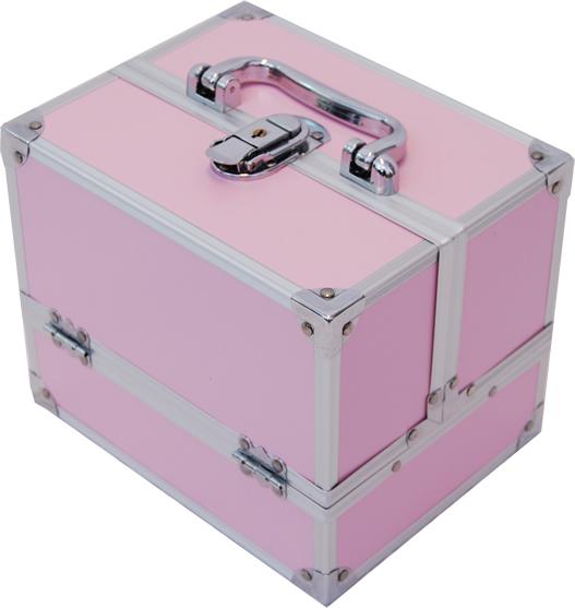 Beauty case make up nail art bs35 rosapink valigia - Valigia porta vinili ...