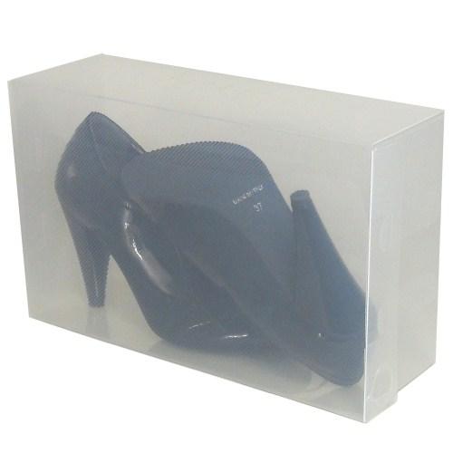9x cajas de almacenaje zapatos pp437 apilable plegable - Cajas transparentes para zapatos ...